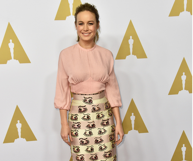 Brie Larson at the Academy Awards nominees luncheon...