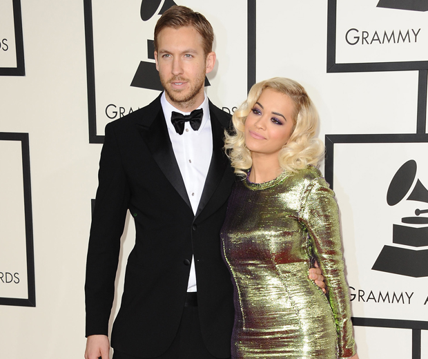 Calvin took pal Rita Ora as his date to the 2014 Grammys