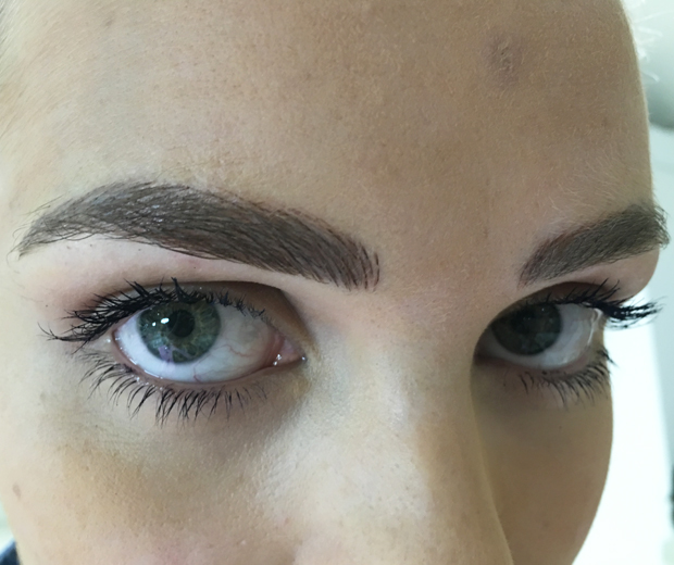 Made In Chelsea's Ianthe Rose showing off her Nano-Needle brows...