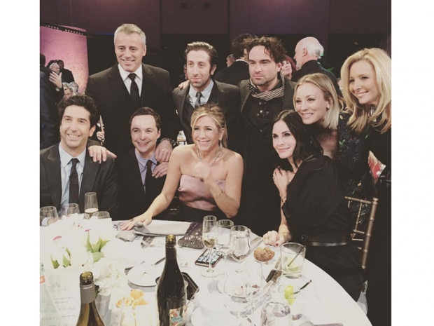 The Friends cast joined stars from shows such as The Big Bang Theory