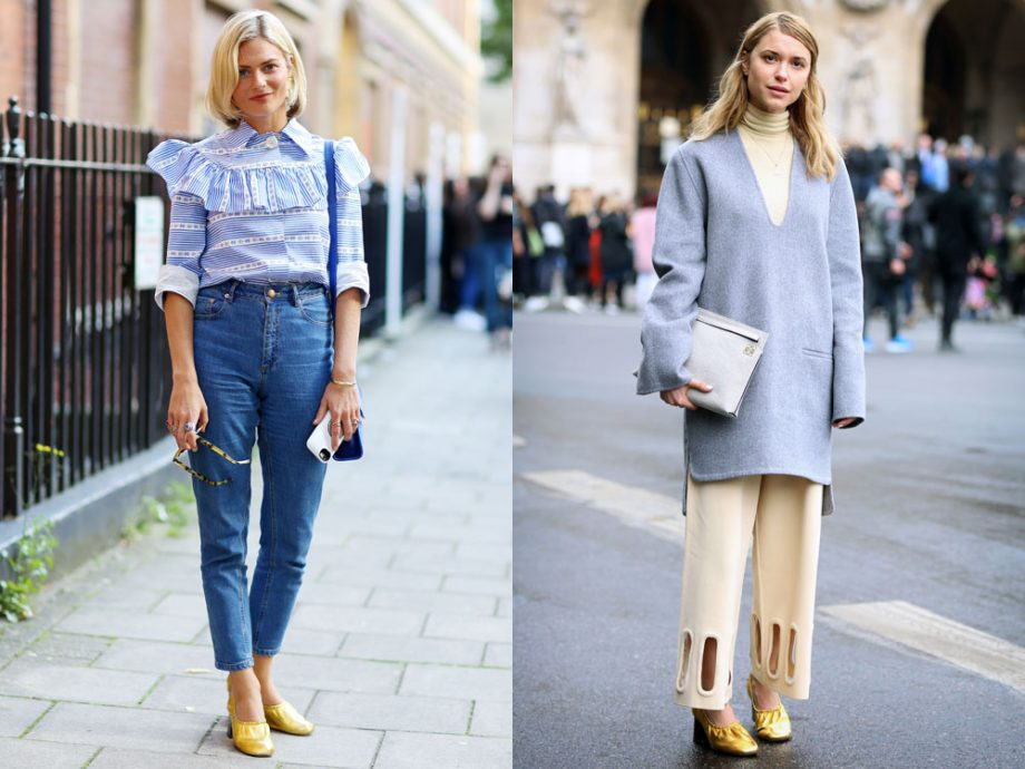 The street style set prove glove shoes are the only heels you need this season