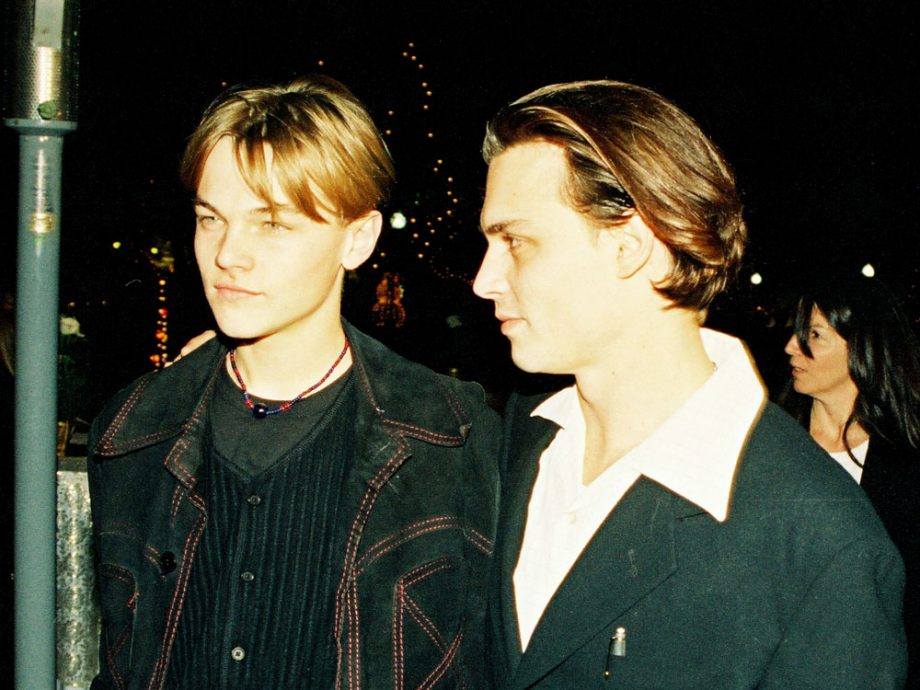 Leonardo DiCaprio and Johnny Depp at the What's Eating Gilbert Grape premiere