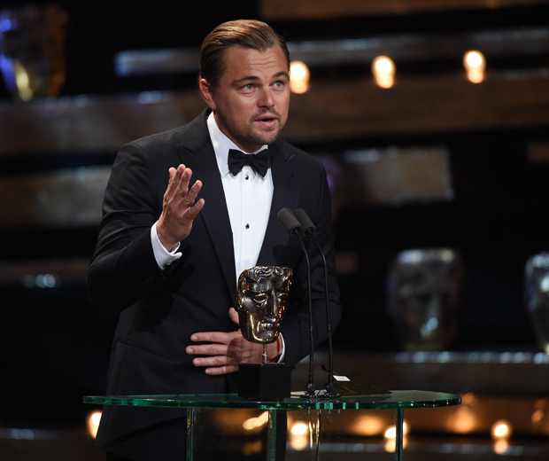 Leonaro DiCaprio made an emotional speech whilst collecting his Best Actor BAFTA award...