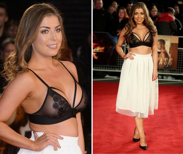 Towie s abi clarke wears an actual bra as eveningwear look