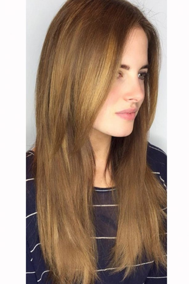 Long hairstyles celebrity styles we love look binky felstead gets fresh hair extensions with caramel highlights 2016 pmusecretfo Gallery
