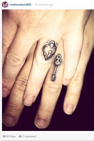 Show Your Love With These Matching Lock And Key Tattoos