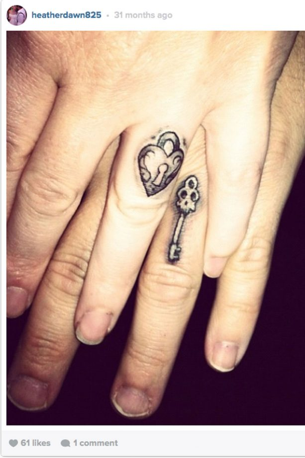 Beautiful Wedding Ring Tattoos: 14 Seriously Cool Wedding Ring Tattoo Ideas