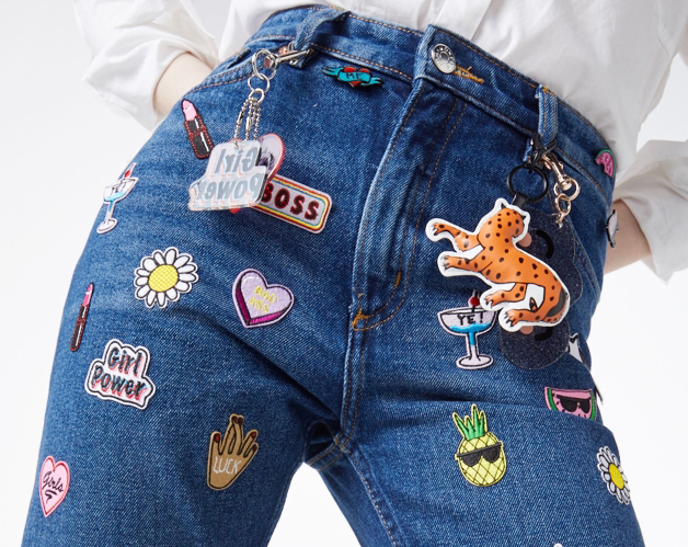 Lastest embroidery patches for jeans makaroka