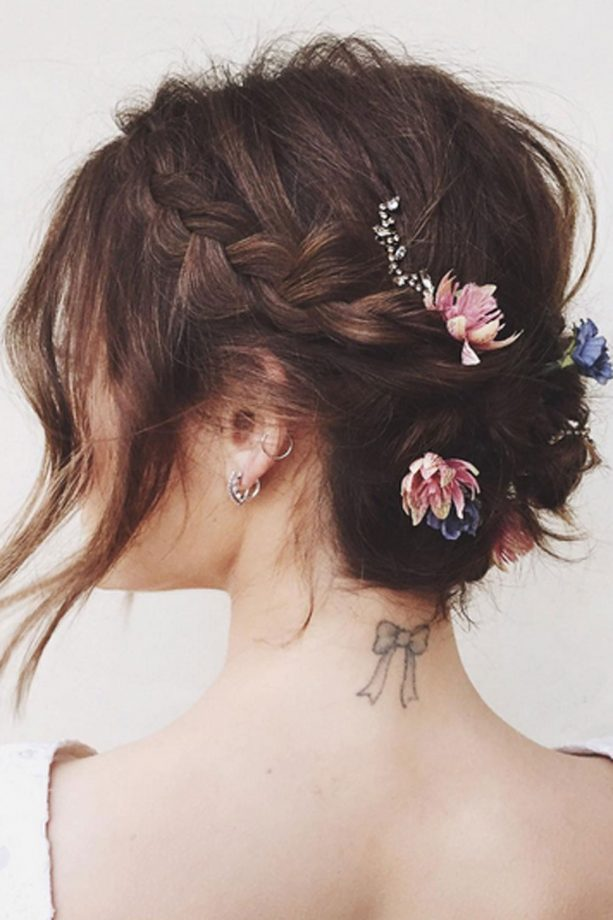 Lucy Hale Shows Off Her Floral Plaits On Instagram, Courtesy Of @Kristin_Ess