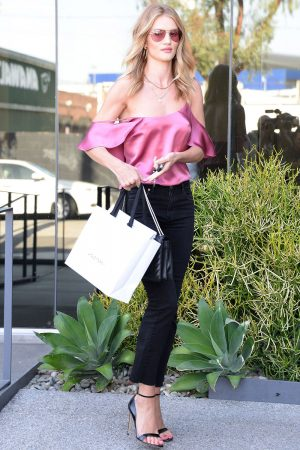 Rosie Huntington Whiteley Wearing Reformation Top, £96.99