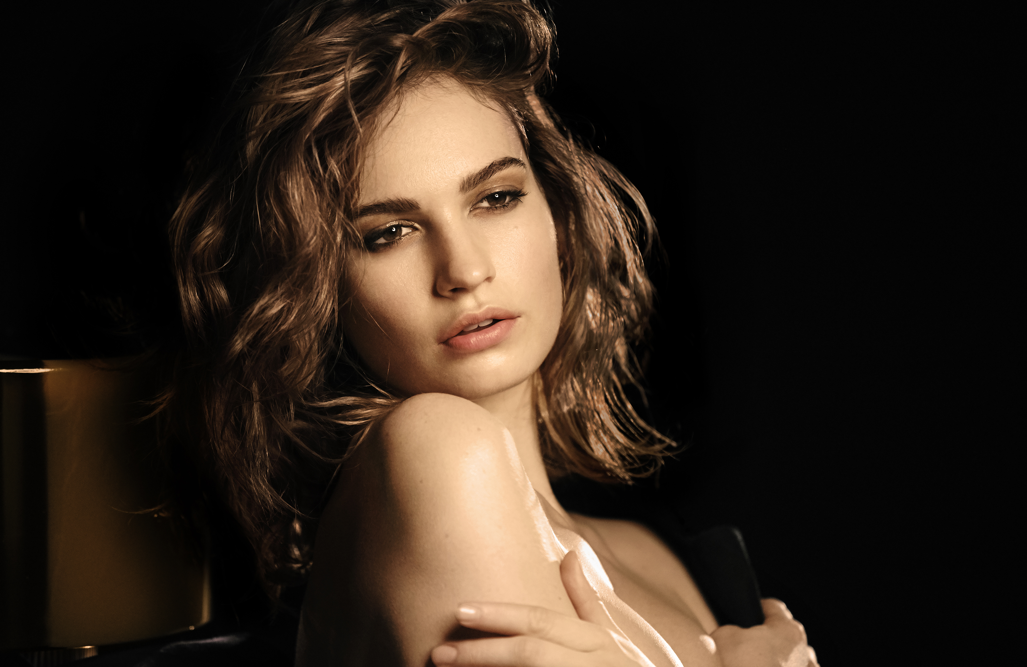 Lily James Image: Exclusive Interview: Lily James Chats Beauty, Brunch And