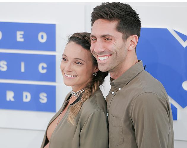 Laura Perlongo and Nev Schulman at the MTV VMAs