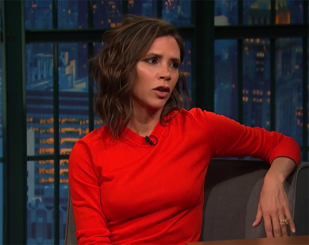 Victoria Beckham on the Late Show