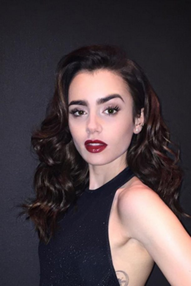 Long hairstyles celebrity styles we love look lily collins trades in her lob in favour of thick luscious extensions for the go pmusecretfo Gallery