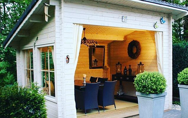 The man cave is dead next year is all about the she shed look magazine - Man caves chick sheds mutual needs ...