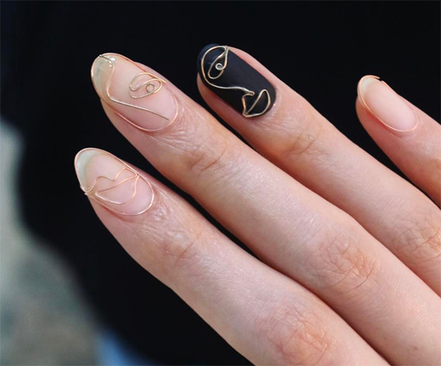 The Surprisingly Pretty Wire Nail Art Trend Taking Over Insta