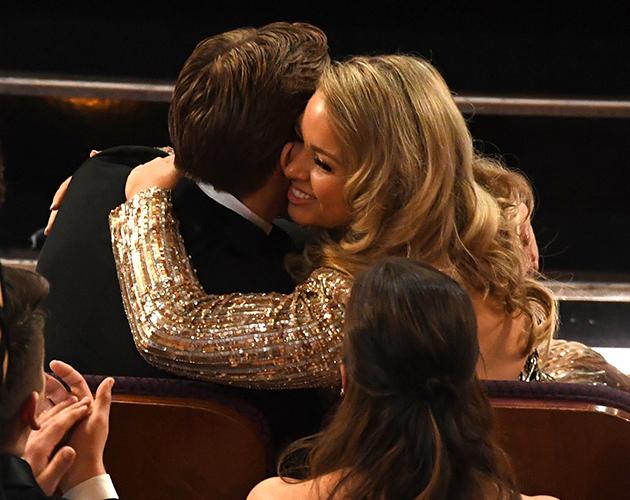 Ryan Gosling and sister Mandi at the Oscars 2017