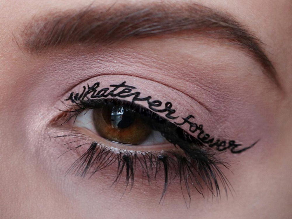 Temporary tattoo eyeliner is now a thing and we 39 re obsessed for Eye temporary tattoo makeup
