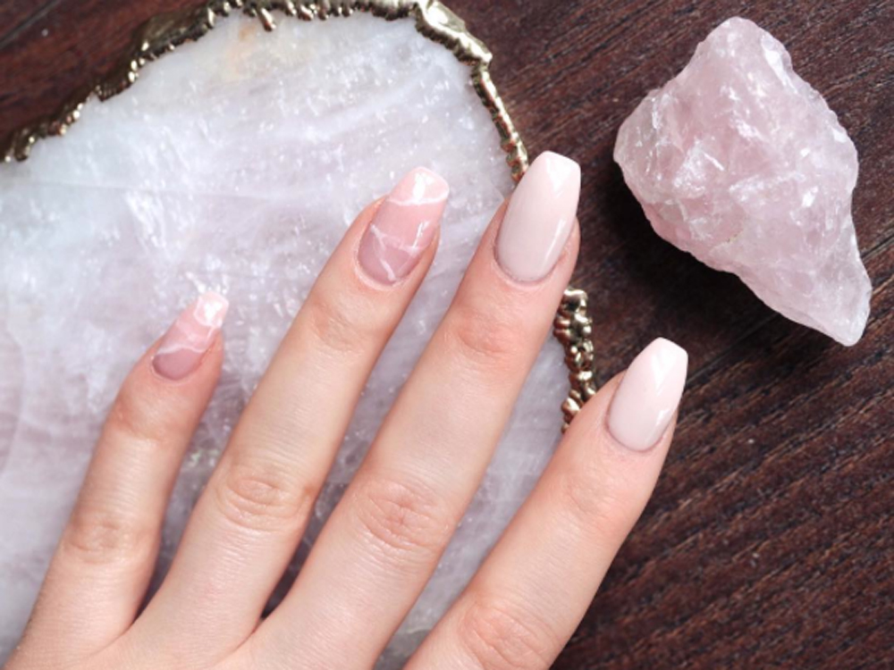 Crystal nails are cool and we want them now for Crystal fall