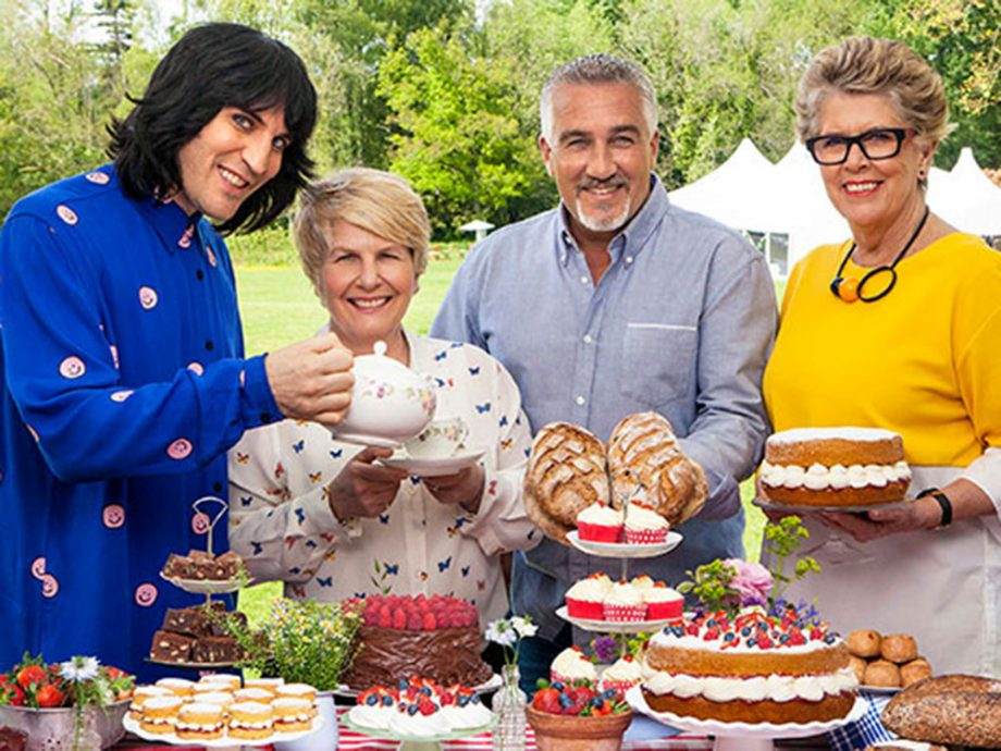 Noel Fielding, Sandi Toksvig, Paul Hollwood and Prue Leigh on The Great British Bake Off