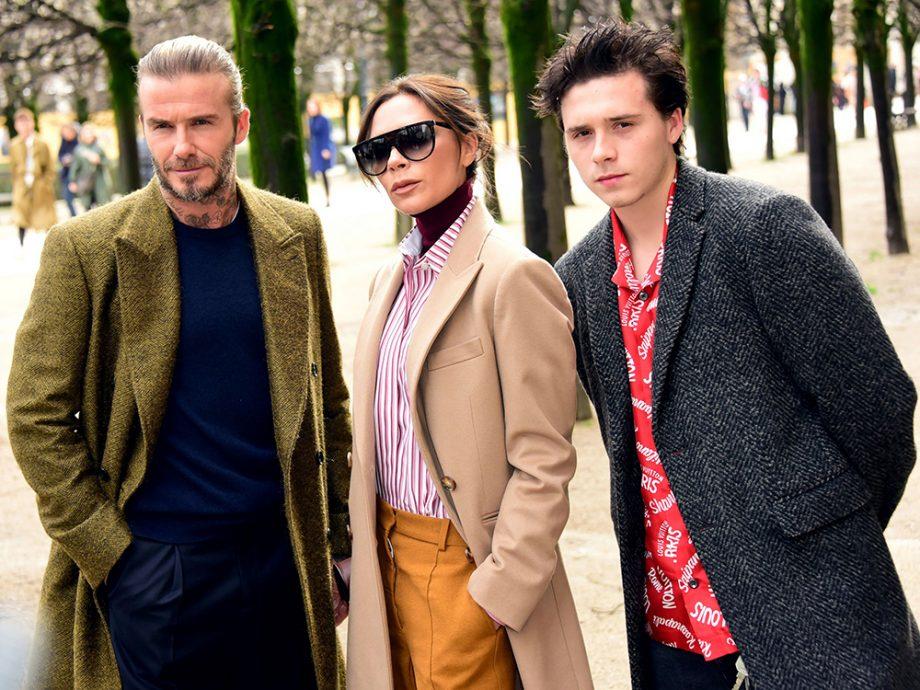 Victoria Beckham, David Beckham and Brooklyn Beckham