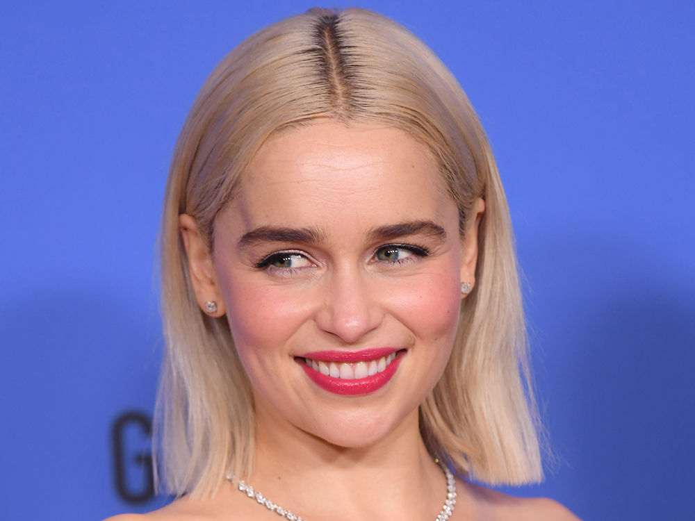 Emilia Clarke Channels Daenerys At The Golden Globes With