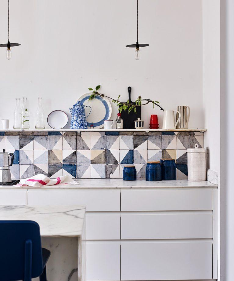 Blue coastal kitchen