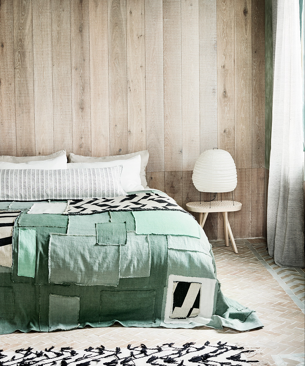 Modern bedroom with a wabi-sabi influence | Homes & Gardens