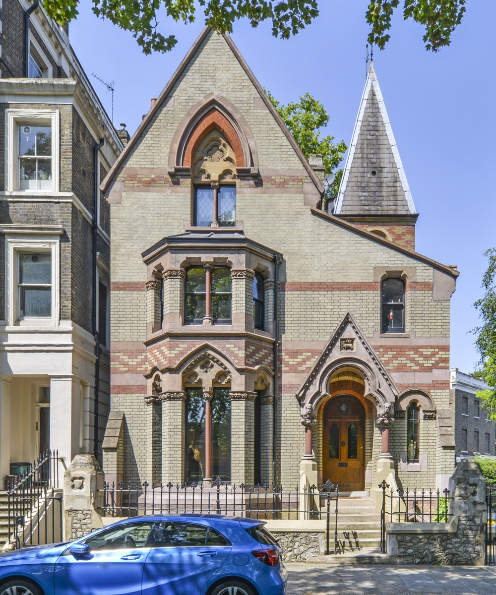 See inside a unique Grade II-listed Gothic house for sale in Camden