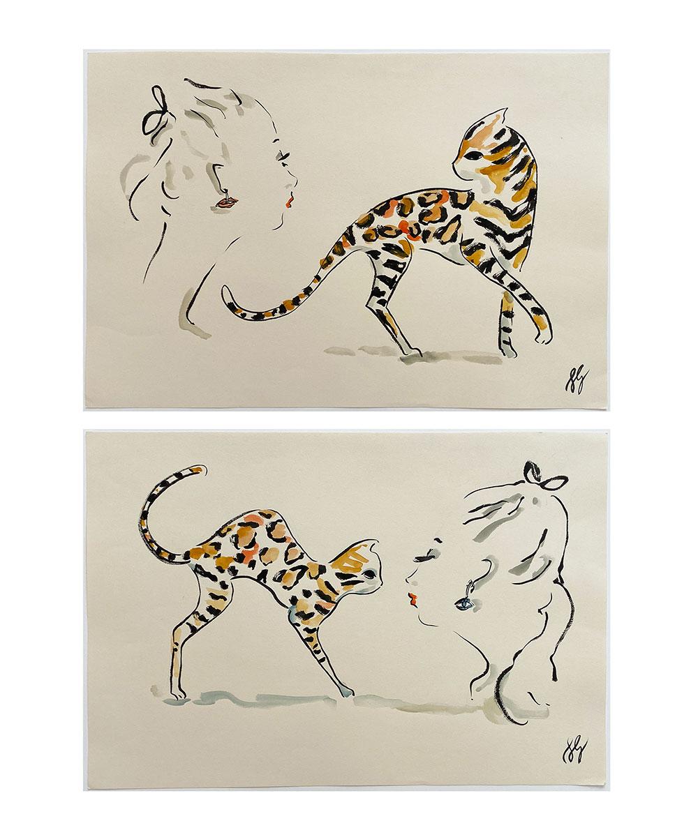 Susannah-Garrod-Feline-Pair