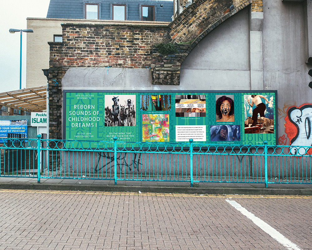Young creatives take over billboards across London with Tate Collective