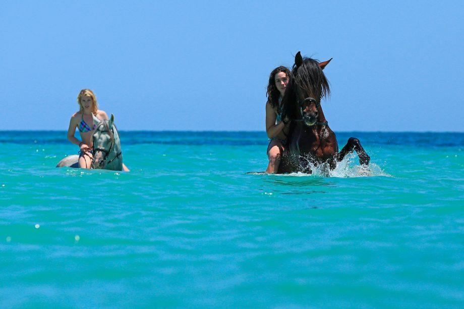 best places to swim on horseback