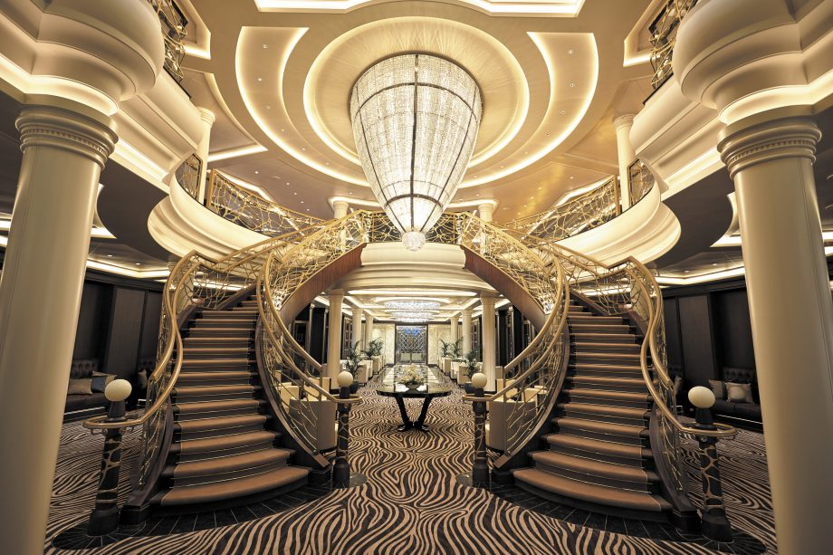 The atrium of the Regent Seven Seas Explorer