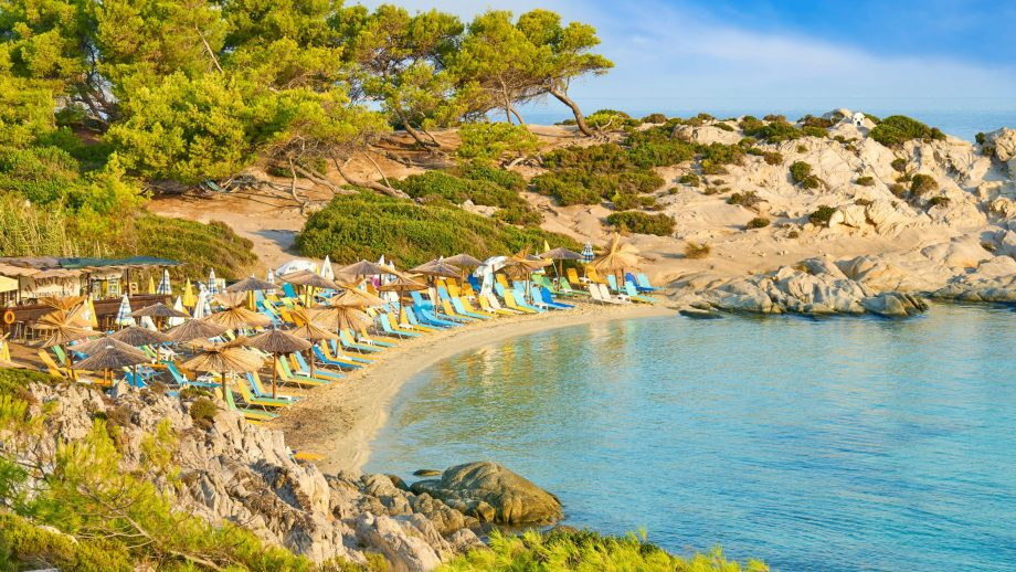 Orange Beach, Halkidiki, Greece
