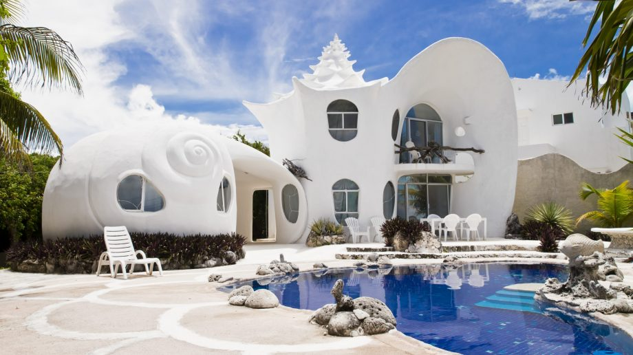 Airbnb most wish listed houses - Mexico seashell house